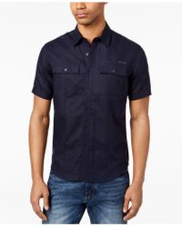 Sean John - Dual Pocket Linen Shirt, Created For Macy's - Lyst
