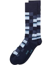Alfani - Mosaic Boxes Dress Socks, Created For Macy's - Lyst
