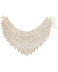 INC International Concepts - I.n.c. Gold-tone Draped Choker Statement Necklace, Created For Macy's - Lyst