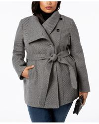 INC International Concepts - I.n.c. Plus Size Belted Asymmetrical Coat, Created For Macy's - Lyst