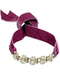 INC International Concepts - Gold-tone Large Crystal Cluster Wide Ribbon Choker Necklace - Lyst