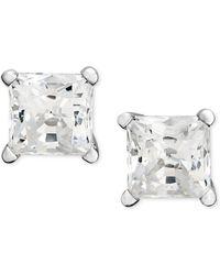 Macy's - Princess-cut Diamond Stud Earrings In 14k White Gold (1-1/4 Ct. T.w.) - Lyst