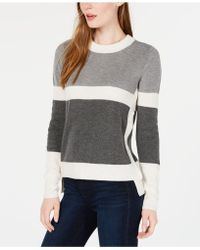 Maison Jules - Colorblocked High-low Sweater, Created For Macy's - Lyst