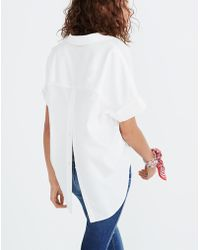 9b7d3cfebc396 Madewell - Courier Button-back Shirt In Pure White - Lyst