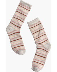 Madewell - Space-dyed Stripe Trouser Socks - Lyst