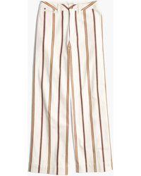 Madewell - Emmett Wide-leg Crop Trousers In Antique Coral Stripe - Lyst