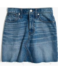 Madewell - Denim Frisco Mini Skirt - Lyst