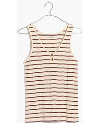 Madewell | Striped Stayover Pyjama Tank Top | Lyst