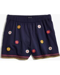 Madewell - Embroidered Pull-on Shorts - Lyst