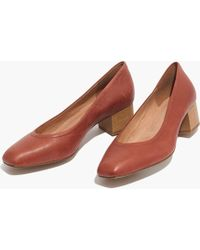 Madewell - The Raquel Pump In Leather - Lyst