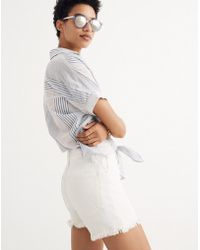 Madewell - The Perfect Jean Short In Tile White - Lyst