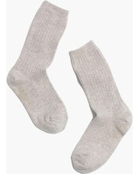 Madewell - Two-pack Ribbed Heather Trouser Socks - Lyst