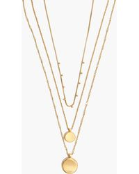 Madewell - Coin Necklace Set - Lyst