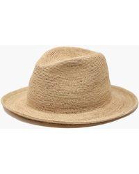 4291ec36b95b82 Madewell Canvas Bucket Hat in Natural - Lyst