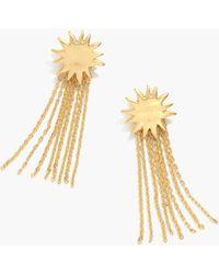 b49e6b3c8 Madewell Facet Drop Earrings in Metallic - Lyst