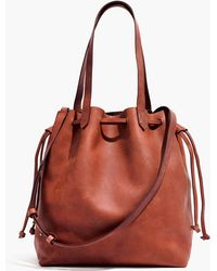 Madewell - The Medium Drawstring Transport Tote - Lyst