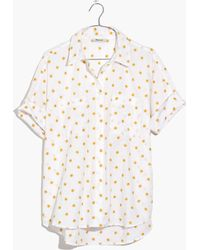 Madewell - Sun Embroidered Courier Shirt - Lyst