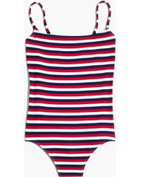 Madewell - Solid & Striped® Nina One-piece Swimsuit In American Stripe - Lyst