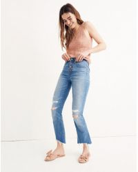 Madewell - Cali Demi-boot Jeans In Bronson Wash: Button-front Edition - Lyst