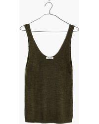 Madewell - Monterey Sweater Tank - Lyst