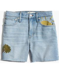 Madewell - High-rise Denim Shorts: Sun Embroidered Edition - Lyst