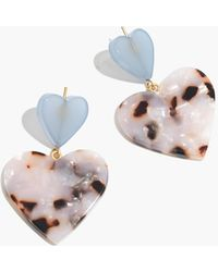 Madewell - Heart Of Hearts Statement Earrings - Lyst