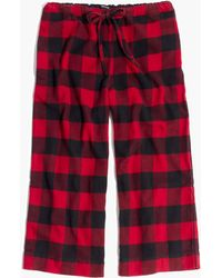 Madewell - Flannel Bedtime Pyjama Trousers In Buffalo Check Flannel Bedtime Pyjama Top In Buffalo Check - Lyst