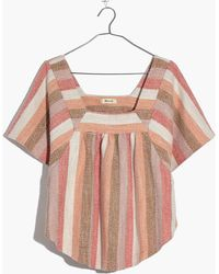 Madewell - Texture & Thread Butterfly Top In Sherbet Stripe - Lyst