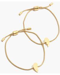 Madewell - Friendship Chain Bracelet Set - Lyst