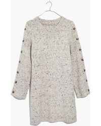 Madewell - Donegal Button-sleeve Sweater-dress - Lyst