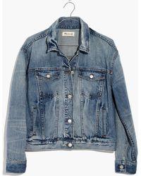 Madewell - Bergen Crop Jean Jacket In Woodcourt Wash - Lyst