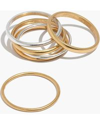 Madewell - Stacking Rings Set - Lyst