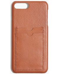 Madewell - Pre-order Leather Carryall Case For Iphone® 6/7 Plus - Lyst