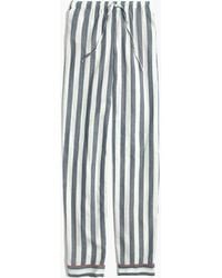 Madewell | Bedtime Pyjama Trousers In Oxford Stripe | Lyst