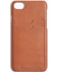 Madewell - Leather Carryall Case For Iphone® 6/7 - Lyst