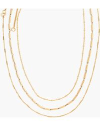 Madewell - Delicate Chain Necklace Set - Lyst