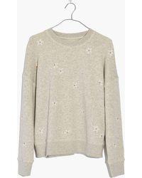 Madewell - Daisy Embroidered Mainstay Sweatshirt - Lyst