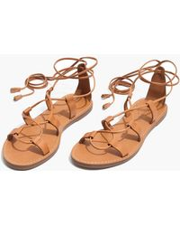 Madewell - The Boardwalk Lace-up Sandal (women) - Lyst