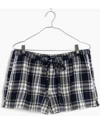 Madewell - Bedtime Pyjama Shorts In Moore Plaid - Lyst