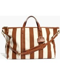 Madewell - The Transport Weekender In Striped Canvas - Lyst
