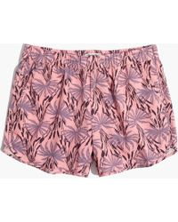 Madewell - Pull-on Shorts In Oasis Palms - Lyst