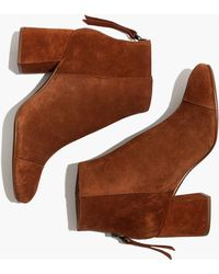 Madewell | The Jillian Boot In Suede | Lyst