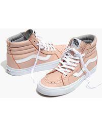 b342159df9 Madewell - Vans Unisex Sk8-hi Reissue High-top Sneakers In Oxford Pink  Leather