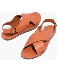 Madewell - The Boardwalk Crossover Sandal - Lyst