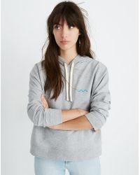 dcfa838e079 Madewell - X Charity: Water Embroidered Hoodie Sweatshirt - Lyst