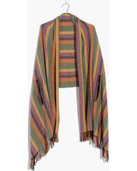Madewell - Rainbow Stripe Cape Scarf - Lyst