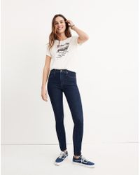 """Madewell - 10"""" High-rise Skinny Jeans In Lucille Wash - Lyst"""