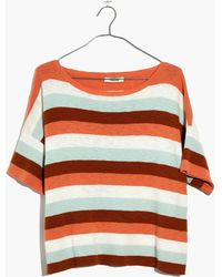 Madewell - Boxy Sweater Tee In Maggie Stripe - Lyst