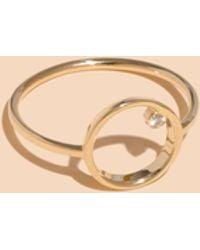 Madewell - X Still Housetm 14k Gold Lapé Diamond Ring - Lyst