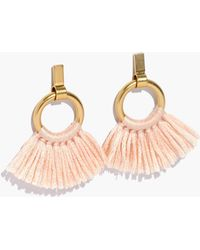 Madewell - Tassel Hoop Earrings - Lyst